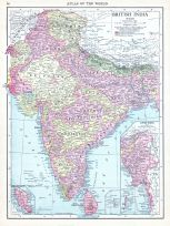 British India, World Atlas 1913